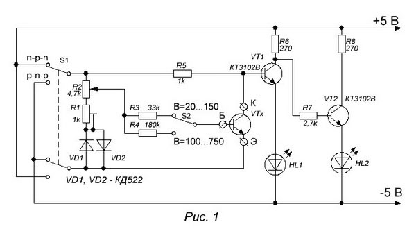 измеритель транзисторов