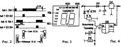 Схема цифрового тахометра с датчиком холла