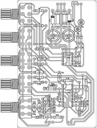 Схема подключения фильтра и расположение деталей.