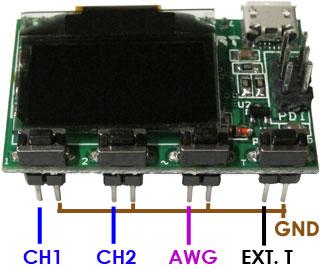 Миниатюрный осциллограф на микроконтроллере AVR XMEGA с OLED дисплеем