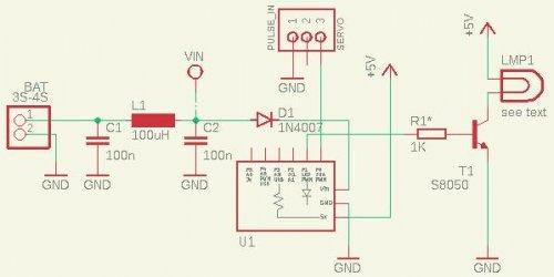 Схема светодиодного стробоскопа для самолетиков