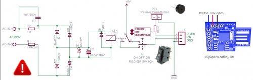 Схема извещатель об отключении электропитания