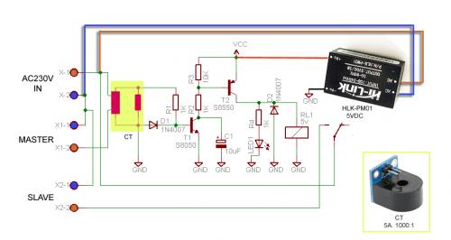 Простая схема автоматического переключателя